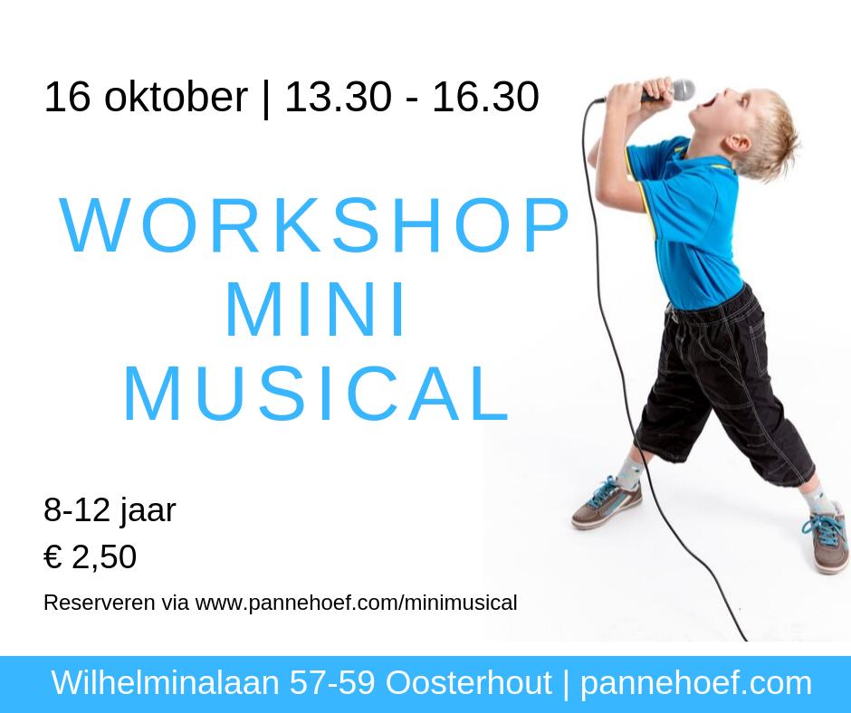 Pannehoef Kinderactiviteit Mini Musical